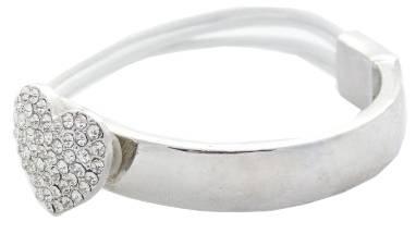 Armbaender Herz-Strass Damen Armband Arm-Spange weiss mit Silber Strass Herz 3120