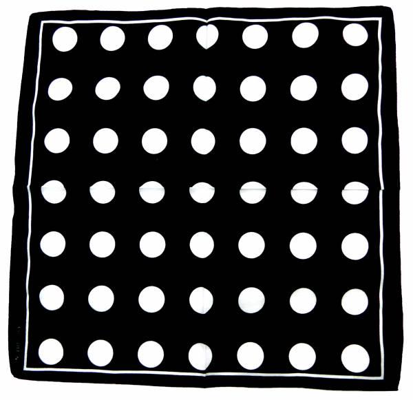 Tuch Nickituch schwarz 50er Jahre Stil Fasching Karneval Kostüm Accessoire Halstuch Kopftuch Bandana Zantana 60er Jahre Design Pünktchen weiss 54cm (black) 4861