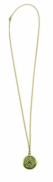 Damen-Uhren Taschen-Uhr gold Bronze edle Kettenuhr moderne Umhängeuhr Tiger-Watch