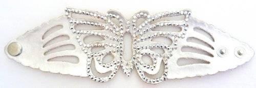 Damenarmband Schmetterling mit Strassbesatz VIELE FARBEN (silber)