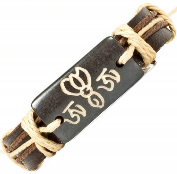 Herren Leder Armreifen Schmuck Armband Vintage Einstellbar Surf Armkettchen Motiv Yogawiki