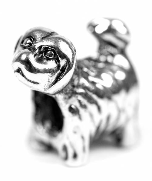 Beads Charms Schmuck Glasperlen Anhänger Unisex Zwischen-Element Hund Collie Glücksbringer Motiv