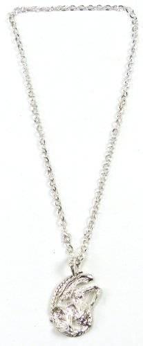 Kette 3700 Killer Ketten Gothic Kette Silberkette mit Anhänger ALIEN 1-1