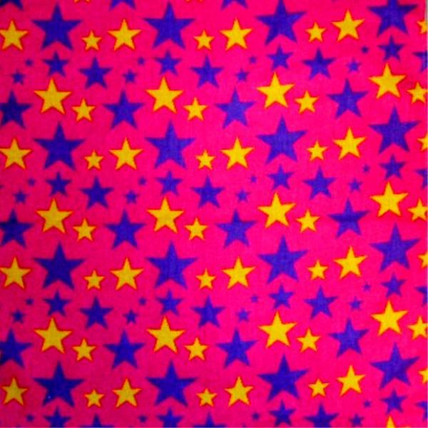 Tuecher Nickituch pink Motiv Sterne Design Herren Damen universal Tuch Bandana paisle. Kopftuch Scarf Halstuch Armband Zantana Nikituecher Star Scarf pink 55x55cm 5088
