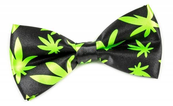 Premium Herren Damen Motto Anzug Fliege Cannabis vorgebunden
