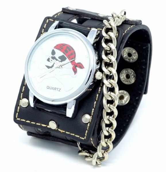 Halloween Schmuck Totenkopf-Uhren Fasching Karneval Armband-Uhr