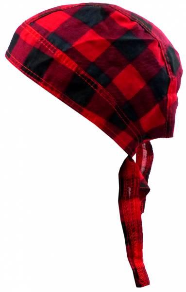 Kopf-Tuch kariert Herren Damen Kinder Kopftuecher schwarz rot Karo Bandana Headscarf Punk Rock für Kinder und Erwachsene 4975
