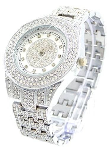 edelste Armbanduhr der Extraklasse! Italian Designer Watch hochwertige Armbanduhr mit Edelsteinen besetzt