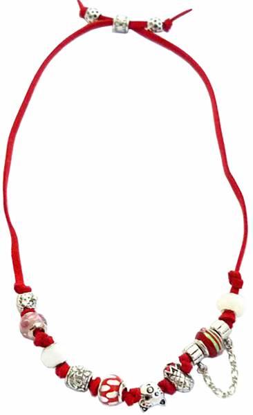 Halsketten edle Beads-kette rot made in Germany in einzigartiger Zusammenstellung