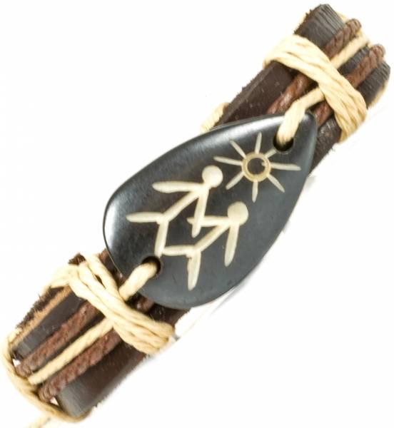 Herren Leder Armreifen Schmuck Armband Vintage Einstellbar Surf Armkettchen Motiv Sonnen Pärchen