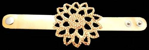 Armband Damen-Armband 2202 Mandala mit Strassbesatz (gold)