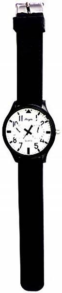 Herren Armband-Uhren schwarz weiss XL-Uhr große Ziffern hochwertige Designer Piloten Armbanduhr DG White