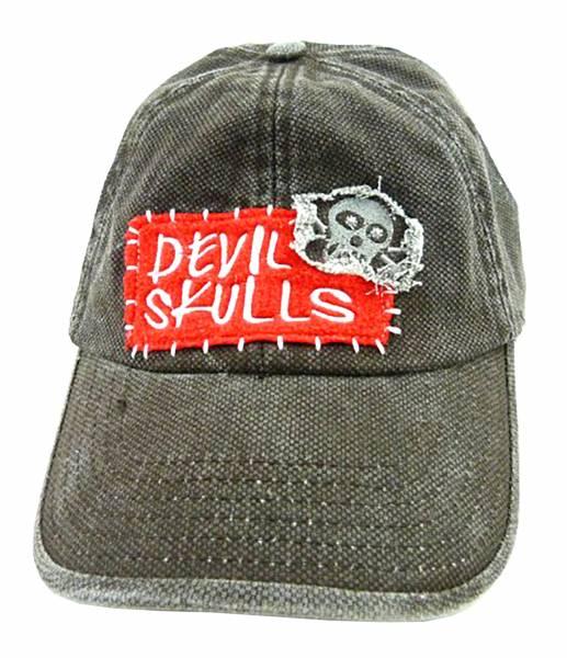 Jeans Cap Devil Skull 1925 alle Größen 100% Baumwolle Skull 21/1