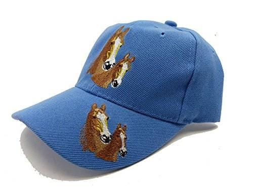 Kinder Caps 2048 viele Farben Pferde Cappy Retro Mütze 100% Baumwolle (blau)