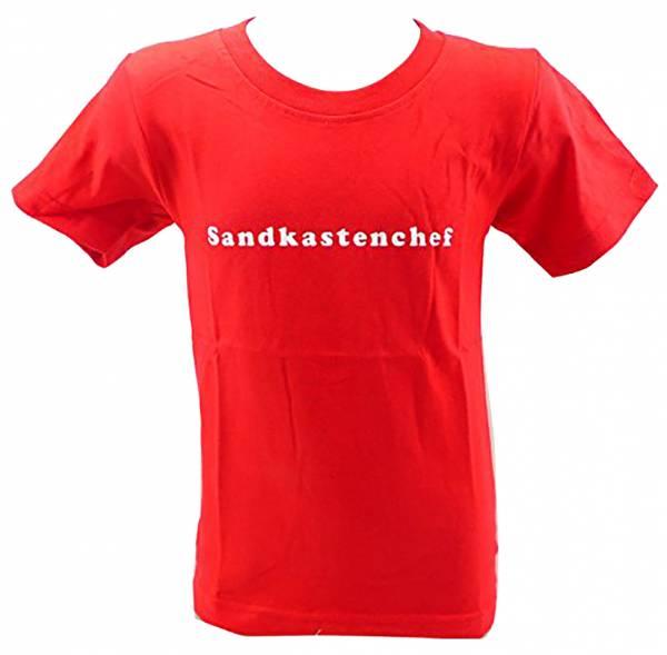 Sprüche-Shirts Kinder T-Shirts 1 - 6 Jahre viele Farben SANDKASTEN-CHEF (5-6 J, rot)