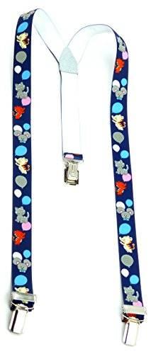 Hosen-Traeger 3410 Kinder Hosentraeger Child suspenders Cat braces mit süssen Kätzchen Motiv viele Modelle (blau mit Ballons)