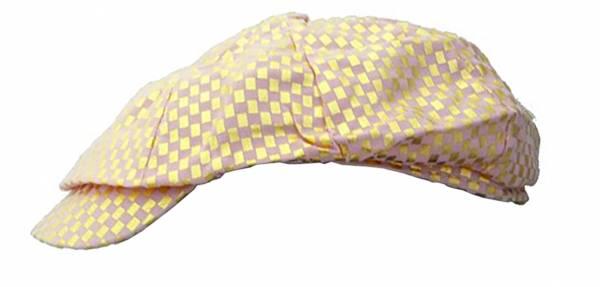 Damen-Mütze rosa gold Designer Golf Cap mit elegantem Karomuster VIELE MUSTER (rosa)