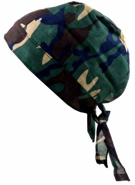 Kopftücher-Herren Damen-Kopftuch Camo-grün mit blau Kinder-Sonnenschutz Junge Mädchen Kopf-Tücher Night-Camouflage Headscarf