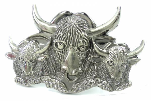 Guertel Schnalle 4461 BISON silver Koppel Gürtel Schnalle Metal Bison Buckle
