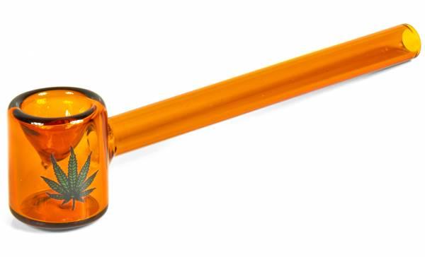 Premium Glas-Pfeife Amsterdam Pfeife Smoking Pipe 110mm Sieblose Purpfeife für kleine Pausen