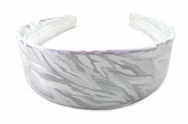 Haar-Reif Damen Herren Haarreifen 4415 Haar-Spange Haarreifen im edlen Glanz Haar-Reifen (silber)