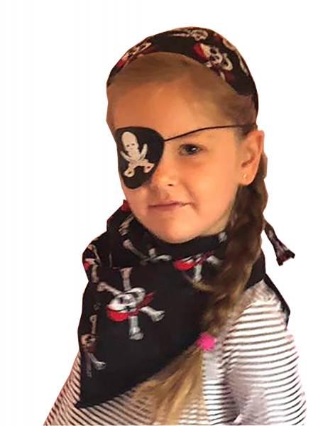 Fasching-Set Piraten-Verkleidung Nicktuch Augenklappe Kopftuch