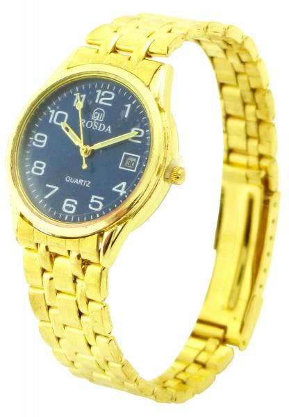 Herren-Uhr gold Damen Armband-Uhren Markenuhr Klassische Herrenuhr mit Datum Designer Uhr Gold Watch