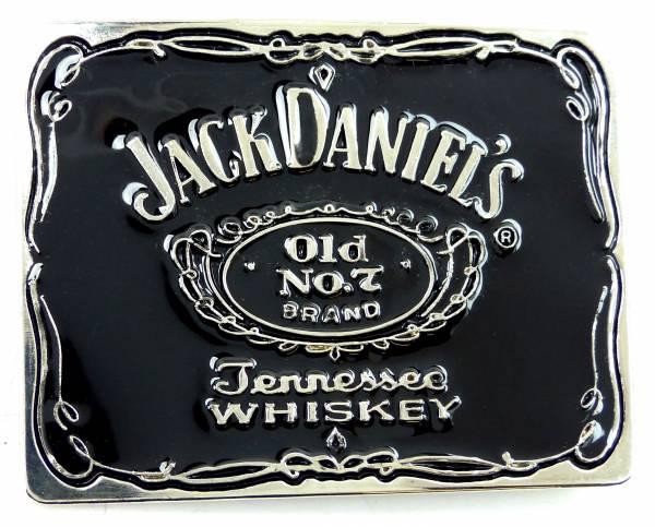 Guertel Schnalle 4459 Jack Black silver Koppel Gürtel Schnalle Metal Daniels schwarz Buckle