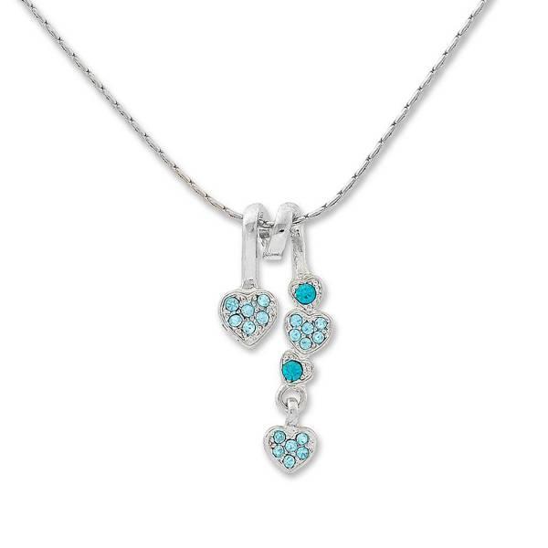 Tillberg Halskette mit Swarovski-Steinen besetzt Damen-Collier Herz-Anhänger Schmuck mit Swarovski-Kistallen