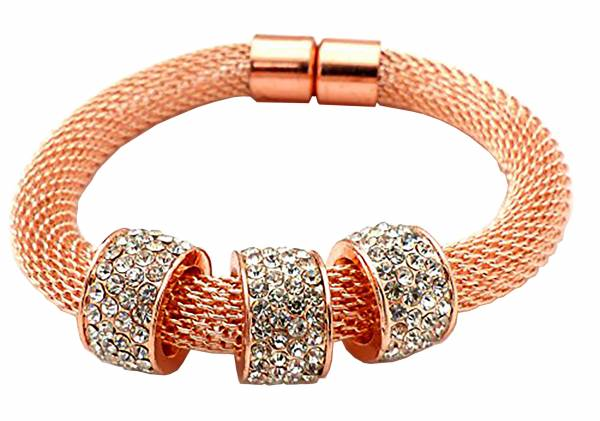 Damen Armband rosé gold mit Strass Beads betterOne M