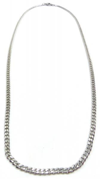 Halskette Silber-Kette Herren Damen Flach-Panzerkette Silber 60cm x 0,3cm Men Woman Silver-Chain 1993