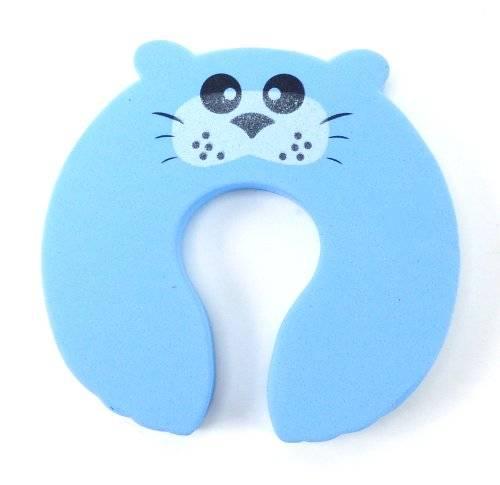 Kinder-Schutz 3875 Schaumstoff Tisch Türstopper Türstop Türstopp Finger-Klemmschutz für Baby Kinder Kindersicherung (Robbe)
