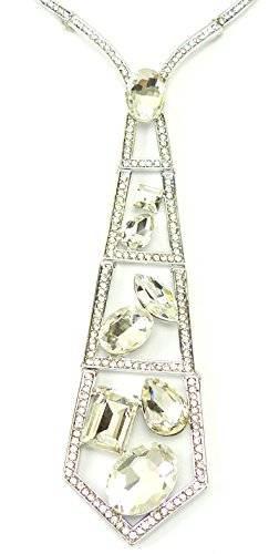 hochwertige Statement Kette silver Tie Ux6