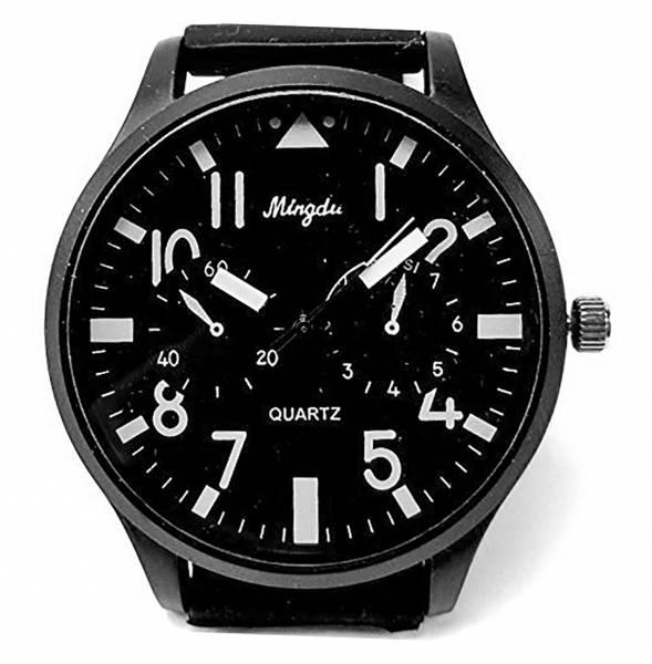 Uhren Herren Damen Armband-Uhr schwarz hochwertige Designer Piloten Armbanduhr DG Black 2122