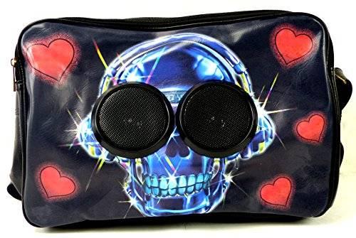 Sound Bag 3180 WELT NEUHEIT! Laptop Taschen Schultasche DJ Bag mit Boxen (Party Skull)