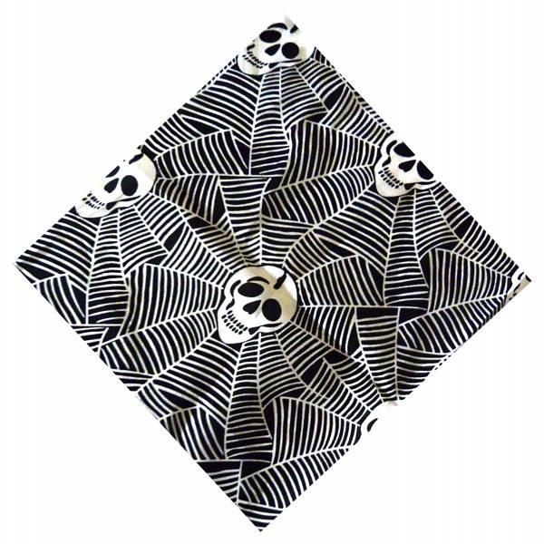 Nickituch Punk Rock Halstuch schwarz 50x50cm SPIDERHEAD