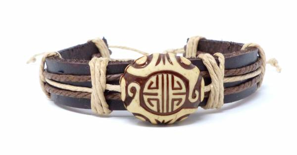 Armband Herren Damen Leder-Armbänder Handmade - Maija
