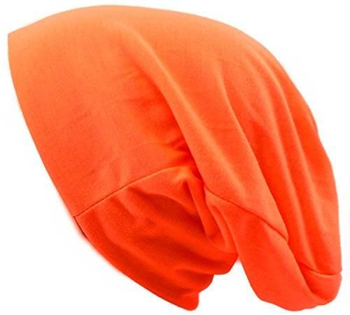 viele Stoffmützen Long Beanie Urban Beanie Classic Chill Wear Summer (neon orange)