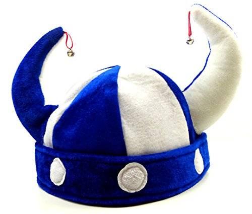 Muetze 4048 Wickinger Mützen Spass Mütze mit Glöckchen Wicking Hat with Bells (BLAU)