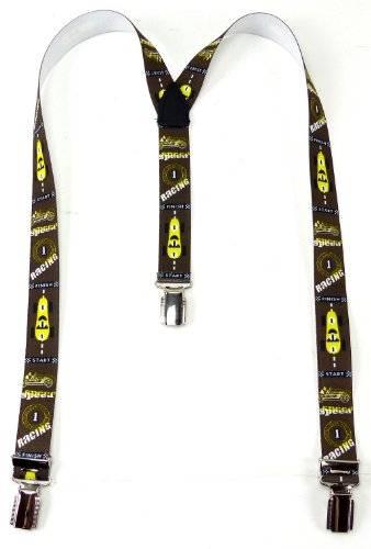 tolle Kinder Hosenträger Racer Design viele Modelle (braun gelb)