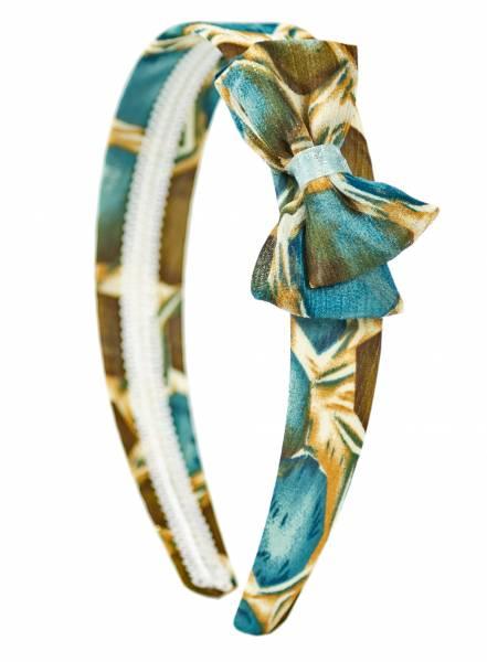Haarreifen Damen Mädchen Haarreif Haarschmuck mit Schleife Retro Elastisch Samt Braun Blau Grün