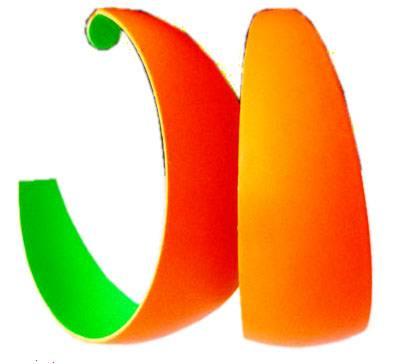 Ohrringe Damen Creolen Damen Schmuck neon Farben Disco Party Schmuck Ohrring Set 45mm Earrings Neon Colors ORANGE 4957