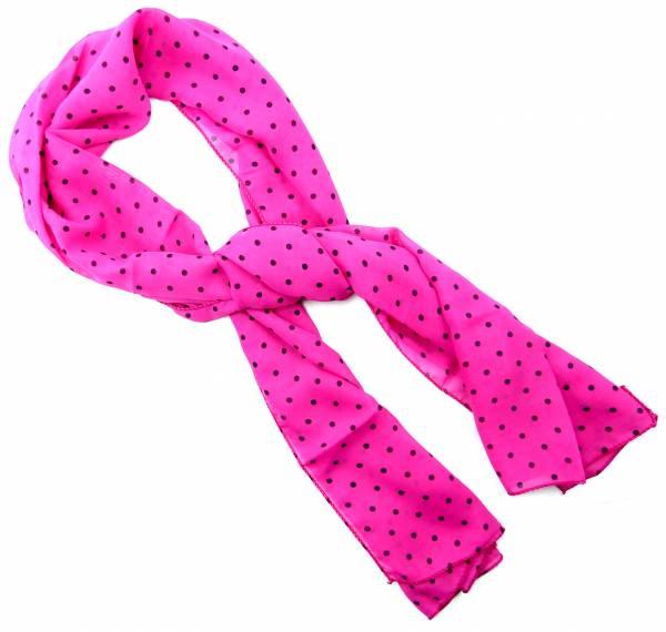 Halstuch Damen Halstücher elegantes Hals Tuch pink Sommer Winter Tuch 50er Jahre Stil 140 x 45cm (pink-black) 4528