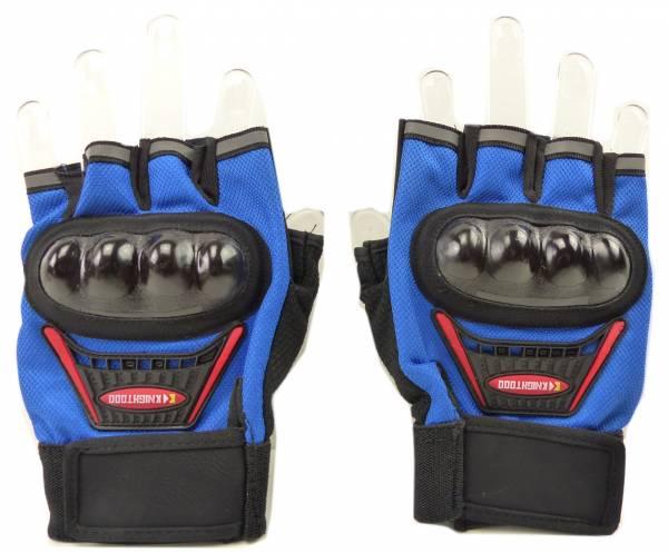 Handschuhe 4451 Faeustlinge 2Stk Gelenk Schutz Fahrrad Hand-Schuhe Biker Hand-gloves Sporthandschuh (blau)