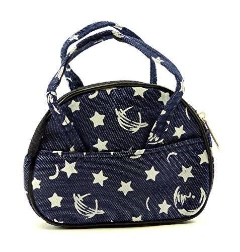 kleine Handtasche mini Tasche Jeans Tasche Kinder Hand Tasche ab 1 Jahr (Jeans Muster)