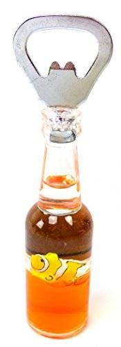 Designer Flaschenöffner mit Magnethalterung viele Modelle (orange)