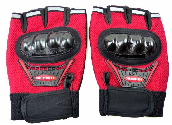 Handschuhe 4452 Faeustlinge 2Stk Gelenk Schutz Fahrrad Hand-Schuhe Biker Hand-gloves Sporthandschuh (rot)