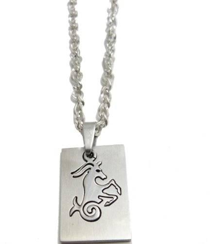 Kette 3706 Halskette 50cm mit tollem Sternzeichen Anhänger - Steinbock