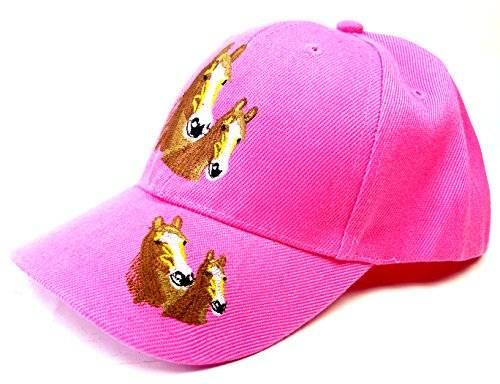 Kinder Caps viele Farben 3444 Pferde Cappy Retro Mütze 100% Baumwolle U19-2 (pink)