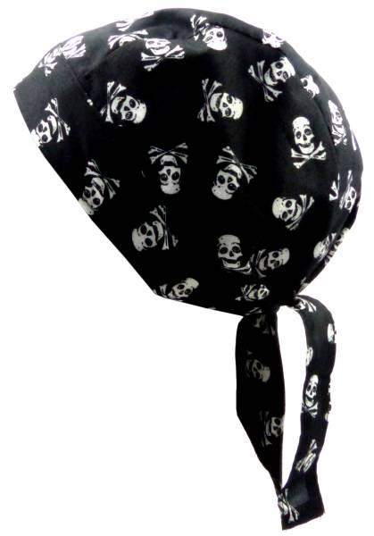 Kopftuch Totenkopf Herren Damen Kopf-Tuecher schwarz Motiv Totenkopf weiss Bandana Zantana Headscarf Bandannas für Kinder und Erwachsene (Skullx new) 5185